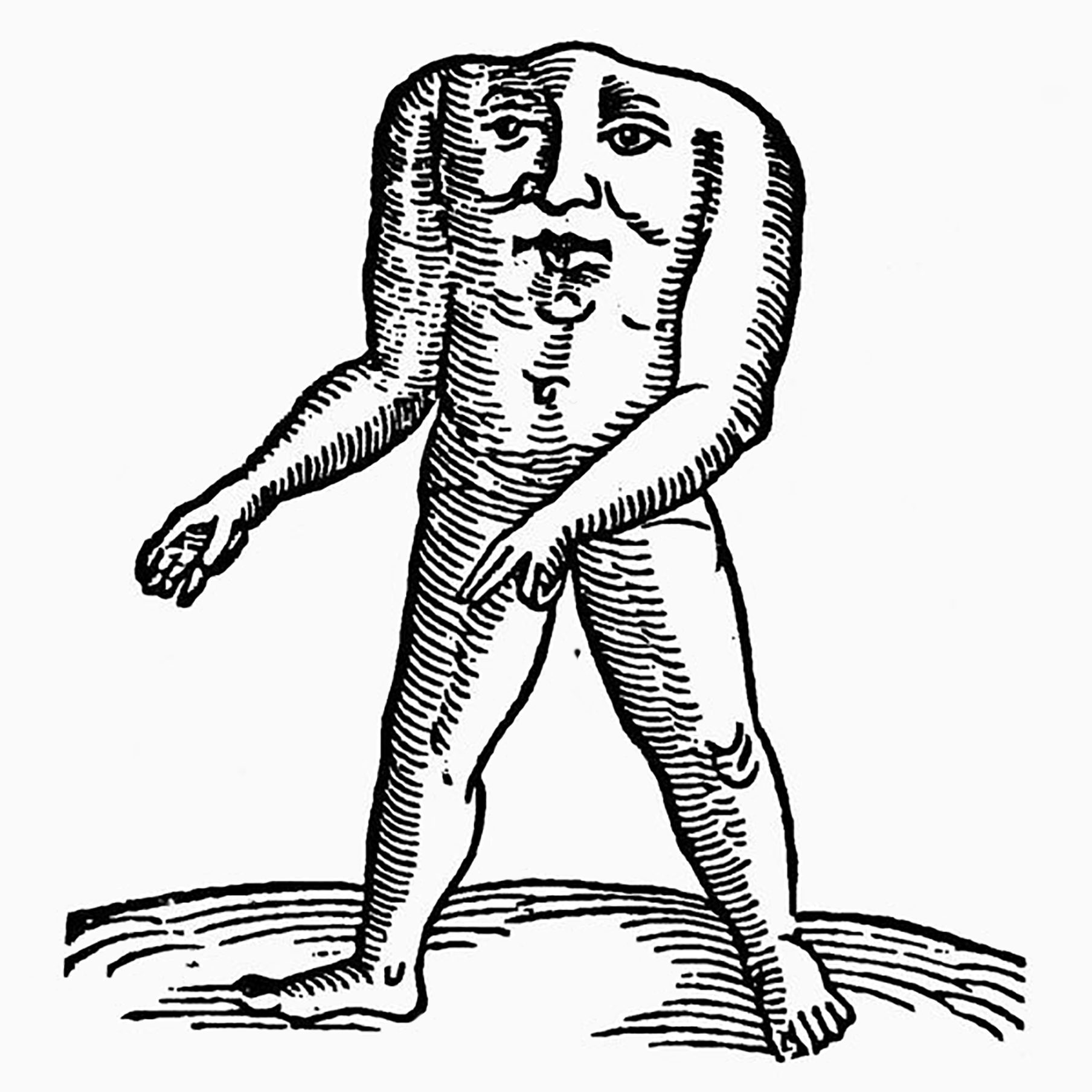 HEADLESS MAN, 1557. Woodcut from the 'Prodigiorum' of Conrad Lycosthenes, 1557.